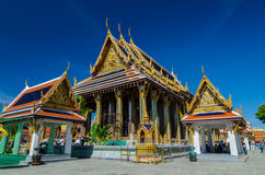 Crowds of people at Ubosot and the Emerald Buddha  Stock Photo
