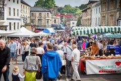 Stalls of the Frome Sunday Market in Market Place Stock Photo