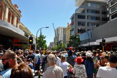 Crowds In Perth: Journey of the Giants Stock Photography