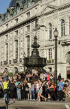 Crowds at Piccadilly Circus, London Royalty Free Stock Photo