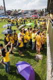 Crowds queueing to sign at Bersih 4 rally Royalty Free Stock Images