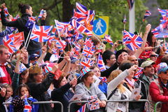 Crowds at Royal Wedding 2011 Royalty Free Stock Photo