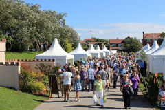 Crowds at Show Gardens at Southport Flower Show Stock Photography