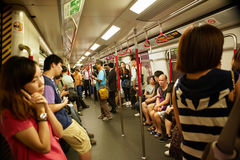 Crowds in side MRT Stock Photography