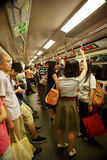 Crowds in side MRT Stock Photo