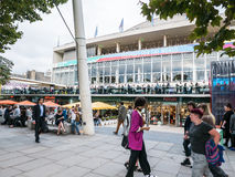 Crowds at Southbank Centre, London Royalty Free Stock Photo