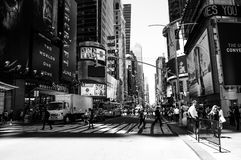 Crowds at Time Square in Manhattan Royalty Free Stock Photography