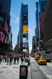 Crowds at Time Square in Manhattan Royalty Free Stock Photo