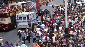 New York City Crowds Stock Photography