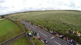 Crowds at the Tour De France stock footage