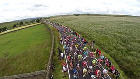 Crowds at the Tour De France stock video footage