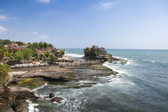 Tanah lot sea temple bali coast indonesia Royalty Free Stock Photography