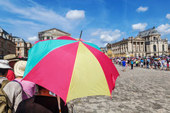Crowds of tourists at the Palace of Versailles in France Royalty Free Stock Photography