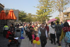 The crowds of tourists,SHENZHEN,CHINA,ASIA Royalty Free Stock Photography