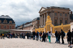 Crowds of tourists visit the Palace of Versailles Stock Photos