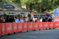 Crowds waiting at gate of Saratoga Race Course,August 29th,2015 Stock Photos