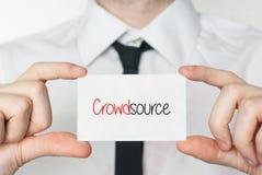 Crowdsource 企业生意人看板卡藏品 免版税库存图片