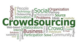 crowdsourcing λέξη σύννεφων Στοκ Φωτογραφία