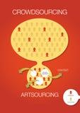 Crowdsourcing, artsourcing infographic Stock Photos