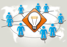 Crowdsourcing funderare - behållare Arkivbild