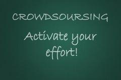Crowdsourcing motto Royaltyfria Foton