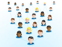 Crowdsourcing Network Icons Stock Photo