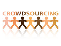 Crowdsourcing Paper People Royalty Free Stock Photo