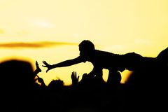 Crowdsurfer Stock Images