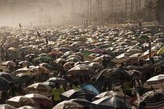 Crowdy Ipanema beach in Rio de Janeiro Stock Photography