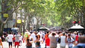 Crowdy ulica zdjęcie wideo