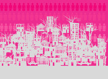Crowed city. With people background