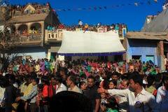Crowed, India. Stock Photo
