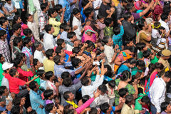 Crowed, India. Stock Photo