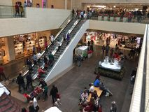 Shopping mall North Park Dallas holiday interior Royalty Free Stock Photo