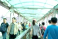 Crowed people in street Royalty Free Stock Image