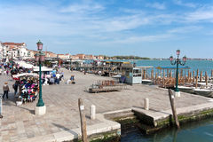 Crowed at San Marco quay Royalty Free Stock Photo