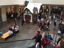Crowed shopping mall North Park Dallas holiday Stock Photography