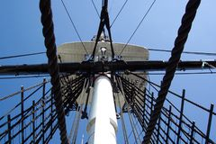 Crowes Nest-U.S.S. Konstitution-Kriegsschiff Stockfotografie