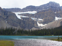 Crowfoot παγετώνας, Π.Χ., Καναδάς στοκ φωτογραφία με δικαίωμα ελεύθερης χρήσης
