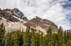 Crowfoot περιοχής λιμνών τόξων βουνά Banff εθνικό πάρκο-Αλμπέρτα-Canad Στοκ εικόνα με δικαίωμα ελεύθερης χρήσης