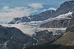 Crowfoot Glacier, Banff, Canada. This is one of the many spectacular views of the Rockies and glaciers to be seen around Banff Royalty Free Stock Photo