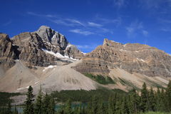 Crowfoot Mountain at Bow Lake Stock Photos