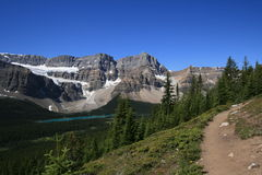 Crowfoot Mountain from Hiking Trail Royalty Free Stock Photos