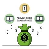 Crowfunding management infographic. Icon vector illustration graphic design Royalty Free Stock Photos