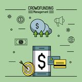 Crowfunding management infographic. Icon vector illustration graphic design Royalty Free Stock Images