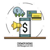 Crowfunding management infographic. Icon vector illustration graphic design Stock Images