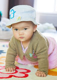 Crowing Little Asian Girl Royalty Free Stock Image