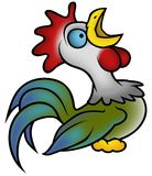 Crowing Rooster Royalty Free Stock Photography