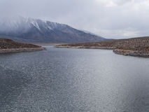 Crowley Lake in the eastern Sierra Nevada Range Royalty Free Stock Photo