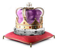 Crown. A photo of a King's crown isolated on white Stock Photos